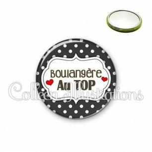 Miroir 56mm Boulangère au top (006NOI11)