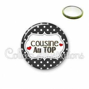 Miroir 56mm Cousine au top (006NOI11)