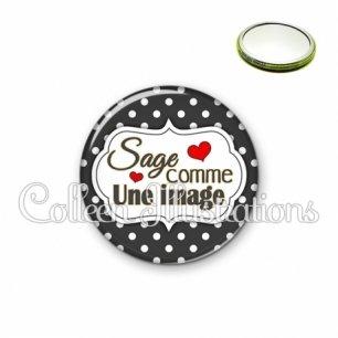 Miroir 56mm Sage comme une image (006NOI11)
