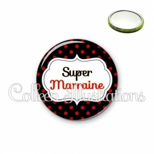 Miroir 56mm Super marraine (006NOI12)