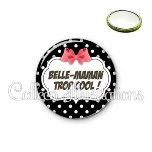 Miroir 56mm Belle-maman trop cool (006NOI13)