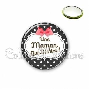 Miroir 56mm Maman qui déchire (006NOI13)
