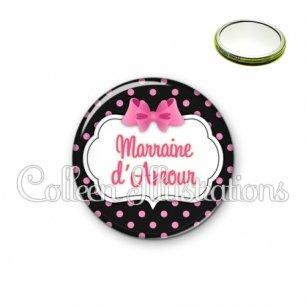 Miroir 56mm Marraine d'amour (006NOI21)