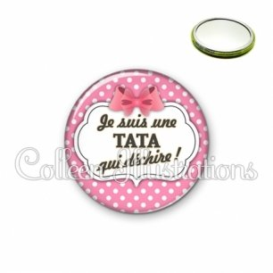 Miroir 56mm Tata qui déchire (006ROS02)