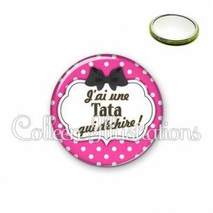 Miroir 56mm Tata qui déchire (006ROS04)