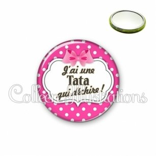 Miroir 56mm Tata qui déchire (006ROS11)