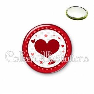 Miroir 56mm Cœurs (007ROU01)