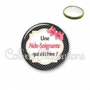Miroir 56mm Aide-soignante qui déchire (008NOI01)