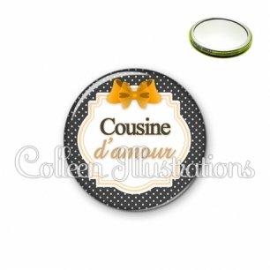 Miroir 56mm Cousine d'amour (008NOI11)