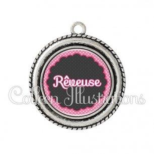 Pendentif résine Rêveuse (017ROS02)