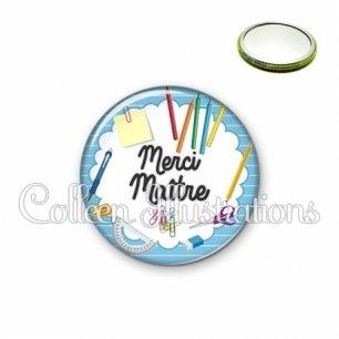 Miroir 56mm Merci Maître (009BLE01)