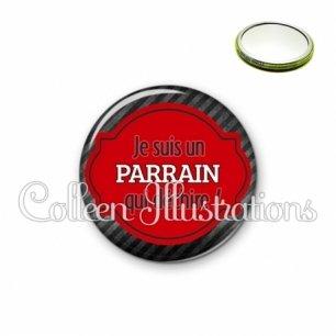 Miroir 56mm Parrain qui déchire (011NOI01)