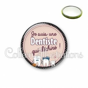 Miroir 56mm Dentiste qui déchire (012MAR01)