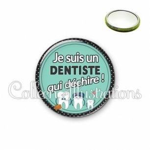 Miroir 56mm Dentiste qui déchire (012VER01)