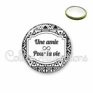 Miroir 56mm Amie pour la vie (013BLA01)