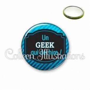 Miroir 56mm Geek qui déchire (013BLE03)