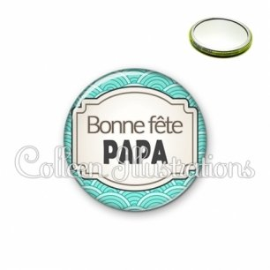 Miroir 56mm Bonne fête papa (013BLE04)