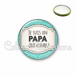 Miroir 56mm Papa qui assure (013BLE04)