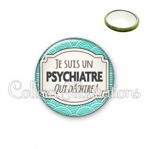 Miroir 56mm Psychiatre qui déchire (013BLE04)