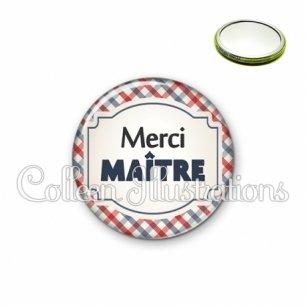 Miroir 56mm Merci maître (013MUL01)