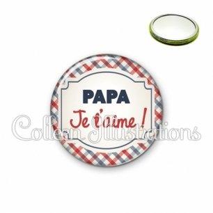 Miroir 56mm Papa je t'aime (013MUL01)