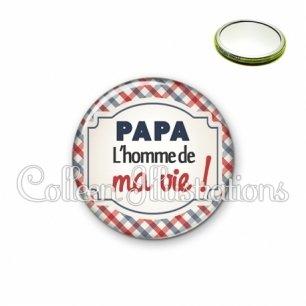 Miroir 56mm Papa l'homme de ma vie (013MUL01)
