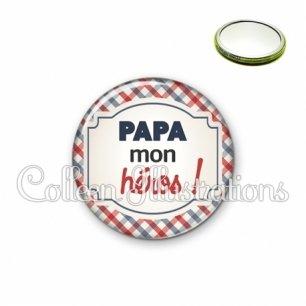 Miroir 56mm Papa mon héros (013MUL01)