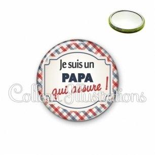 Miroir 56mm Papa qui assure (013MUL01)