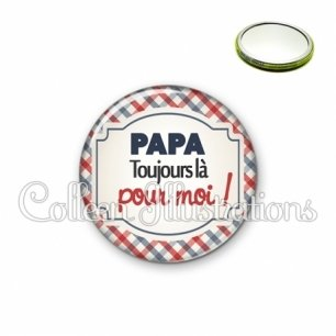 Miroir 56mm Papa toujours là pour moi (013MUL01)