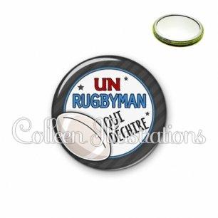 Miroir 56mm Rugbyman qui déchire (016GRI05)