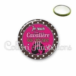 Miroir 56mm Cavalière qui déchire (016MAR01)