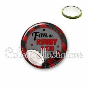 Miroir 56mm Fan de rugby à XIII (016MUL04)