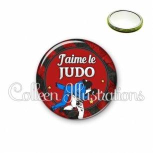 Miroir 56mm J'aime le judo (016MUL13)
