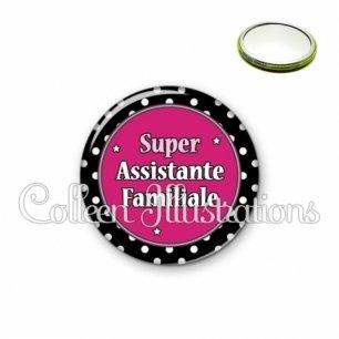 Miroir 56mm Super assistante familiale (016NOI01)