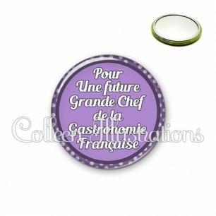 Miroir 56mm Future grande chef de la gastronomie française (016VIO03)