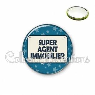 Miroir 56mm Super agent immobilier (018BLE01)