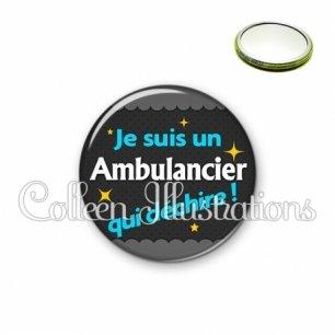 Miroir 56mm Ambulancier qui déchire (019GRI01)