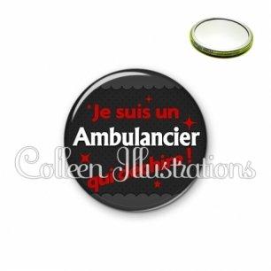 Miroir 56mm Ambulancier qui déchire (019GRI02)