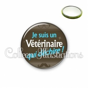 Miroir 56mm Vétérinaire qui déchire (019MAR01)