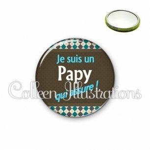 Miroir 56mm Papy qui assure (019MUL01)