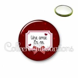 Miroir 56mm Amie en or (023ROU01)