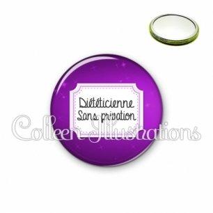 Miroir 56mm Diététicienne sans privation (023VIO01)