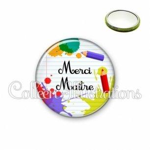 Miroir 56mm Merci maître (026MUL01)