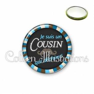 Miroir 56mm Cousin qui déchire (027BLE01)