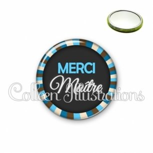 Miroir 56mm Merci maître (027BLE01)