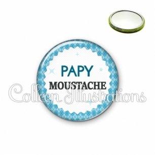 Miroir 56mm Papy moustache (028BLE03)