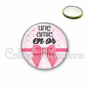 Miroir 56mm Amie en or (029ROS01)