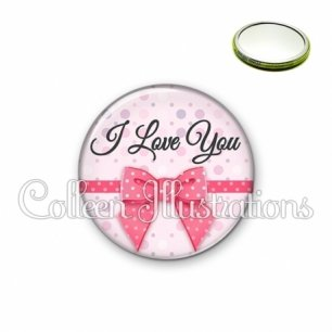 Miroir 56mm I love you (029ROS01)