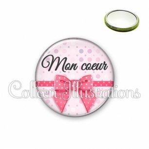 Miroir 56mm Mon cœur (029ROS01)