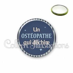Miroir 56mm Osthéopathe qui déchire (031BLE07)